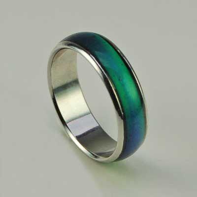 Anelli dell'umore in Acciaio Cambia Colore Mood Ring Fashion Anello alla Moda spedizione Gratis in tutta Italia