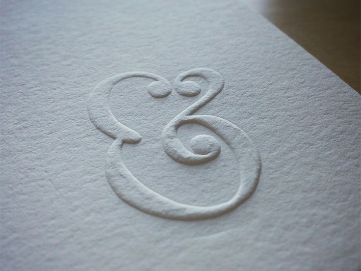 Large View: http://seanwes.com/2013/ampersand-embossed/                                                                                                                                                                                 More