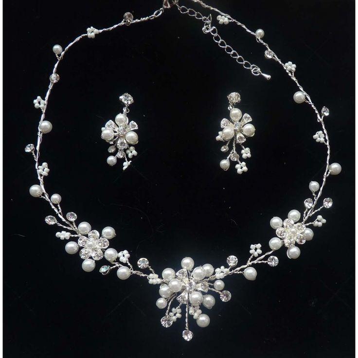 Perlen Schmuckset  - Hochzeitsschmuck ivory