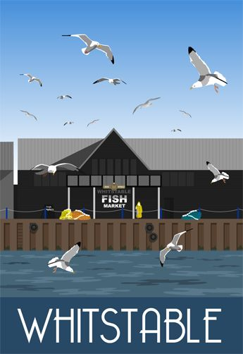 Whitstable Fish Market. Drawn by Karen