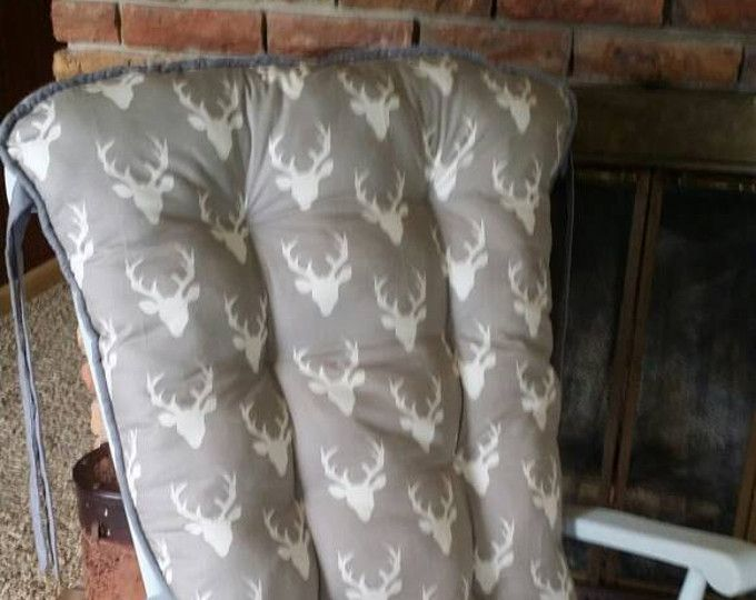 Custom Buck Forest Rocking Chair Cushions, Glider Replacement Pads, Rocker Cushions, Wooden Rocking Chair Pads