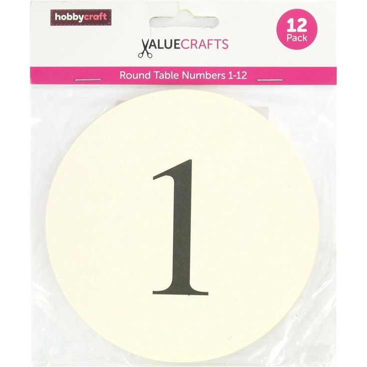 Table Numbers - Hobbycraft