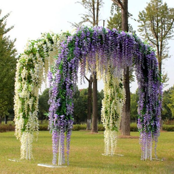 Hanging Artificial Flower Floral Vine Wisteria Party Decoration Wedding Bouquet Decor Wish Winter Wedding Decorations Vines Wedding Decor Wisteria Wedding