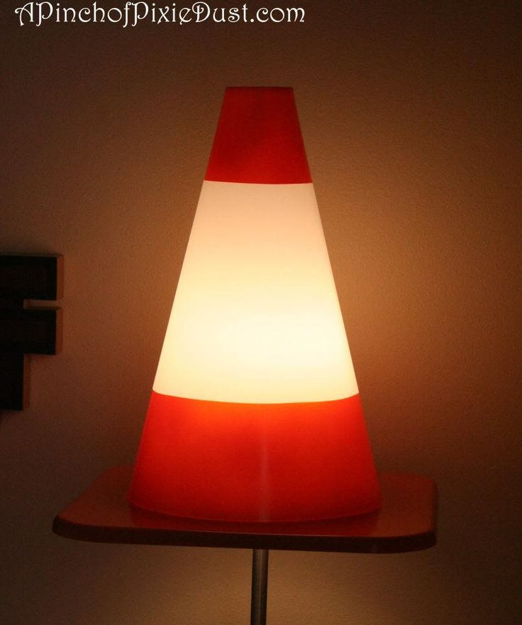 Traffic Cone Lamp from Art of Animation!