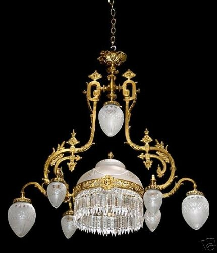 The 25 best victorian chandelier ideas on pinterest victorian american victorian chandelier with crystal prisms mozeypictures Image collections