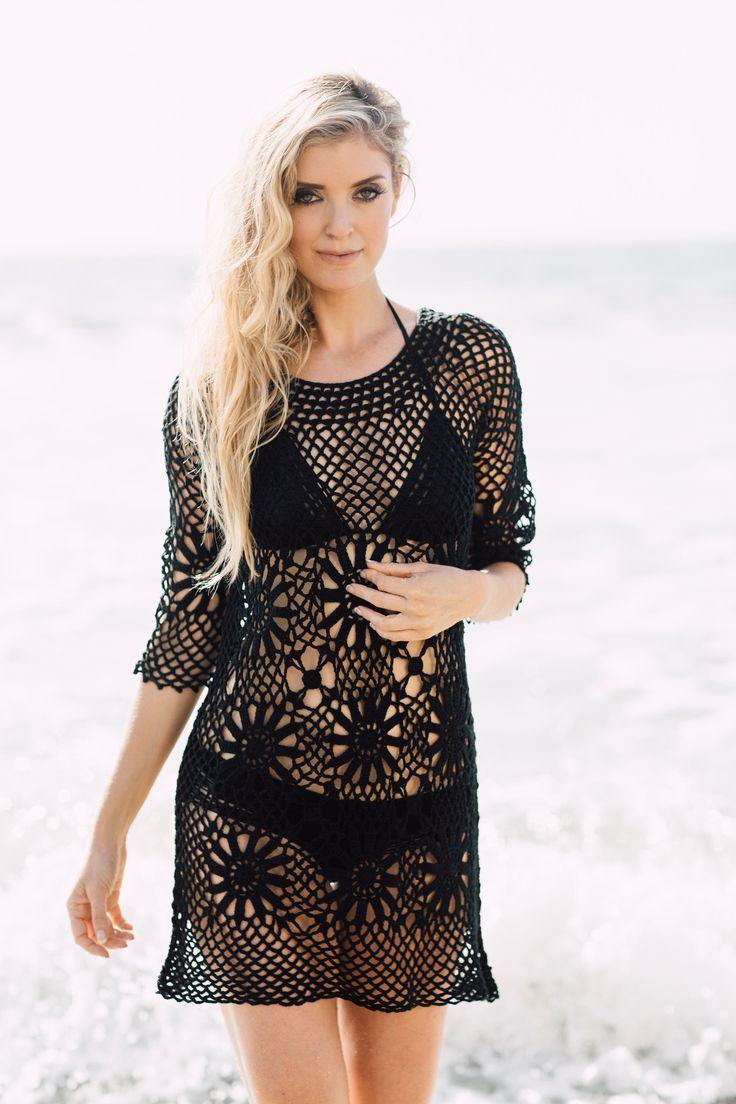Boho Crochet Tunic-swimsuit coverup