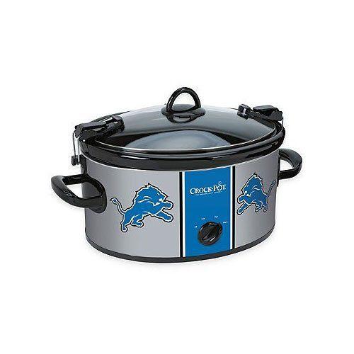 Crock-Pot SCCPNFL600-DL 6 Quart NFL Detroit Lions Cook