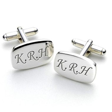 Personalised engraved cufflinks with initials for the Groom, Best Man or as and Ushers gift