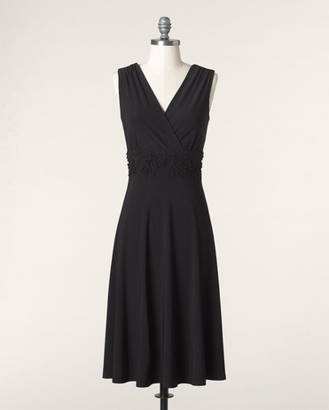Women's Clothes on Sale | Coldwater Creek - via http://bit.ly/epinner: Fashion, Knit Dress, Style, Scroll Knit, Dresses Lbd, Little Black Dresses, Mob Dresses, Soutache Scroll, Knits