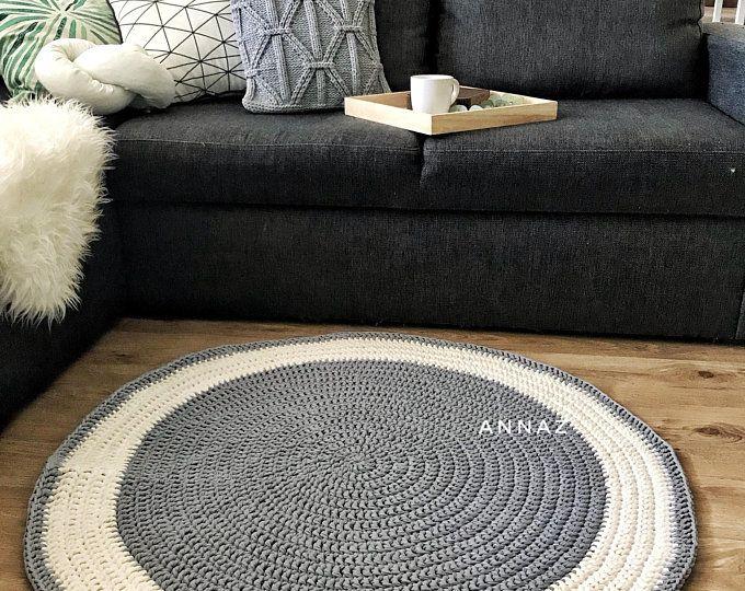 Natural Linen Rug Round Rug Scandinavian Rug Crochet Rug Etsy Rugs In Living Room Scandinavian Rug Floor Rugs