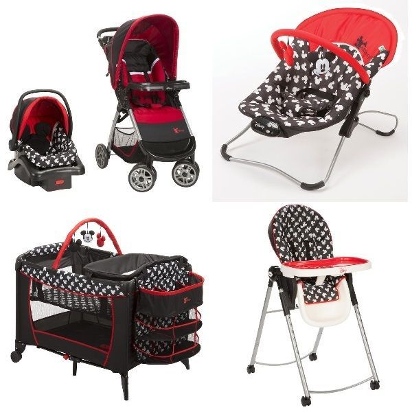 c48994be7556 5 pc. mickey mouse newborn set car seat stroller playard crib ...