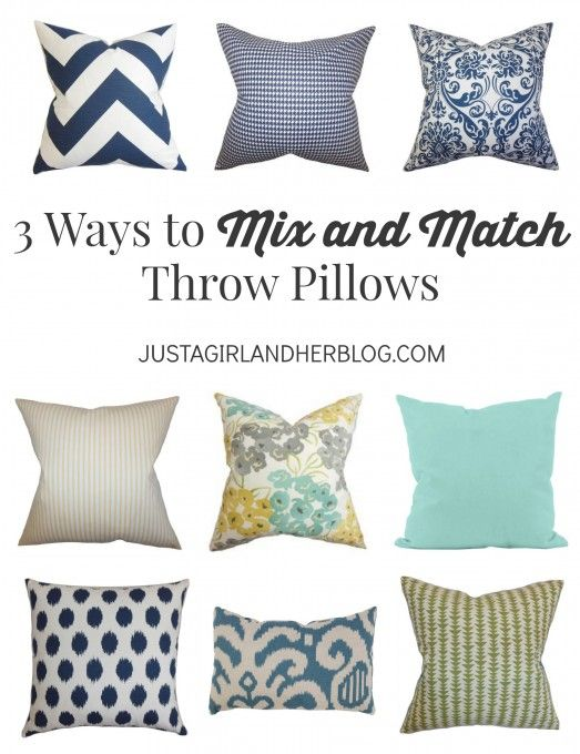 I never know which combination of pillows to pick-- this makes it easy!   JustAGirlAndHerBlog.com