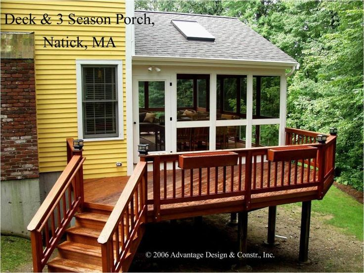 Three season porch design ideas gable roof 3 season for Three season porch