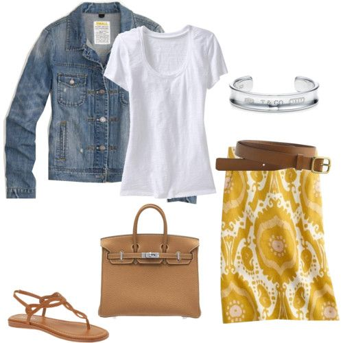 .: Dreams Closet, Jeans Jackets, Patterns Skirts, Spring Summ, Yellow Skirts, Summer Outfits, Denim Jackets, Cute Skirts, Mustard Yellow
