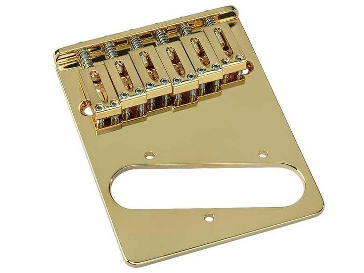 GOTOH 6 Saddle Telecaster Bridge Brass Saddles Gold