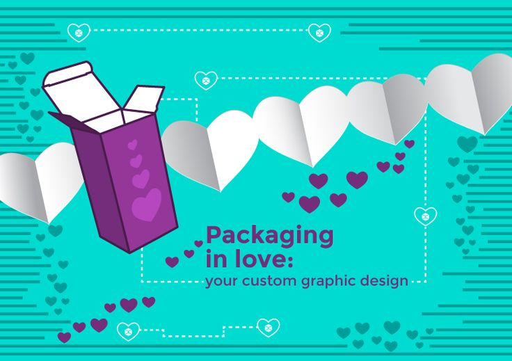 #Packaging in love: your custom #graphic #design for Valentine's day. Download the #vector PDF on #Packly