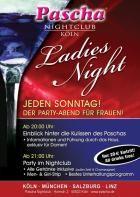 Jeden Sonntag im Pascha Köln: Ladiesnight!