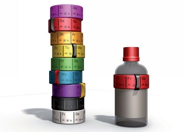 Priminimas bottle band. Резиновое кольцо-органайзер для бутылочки с микстурой