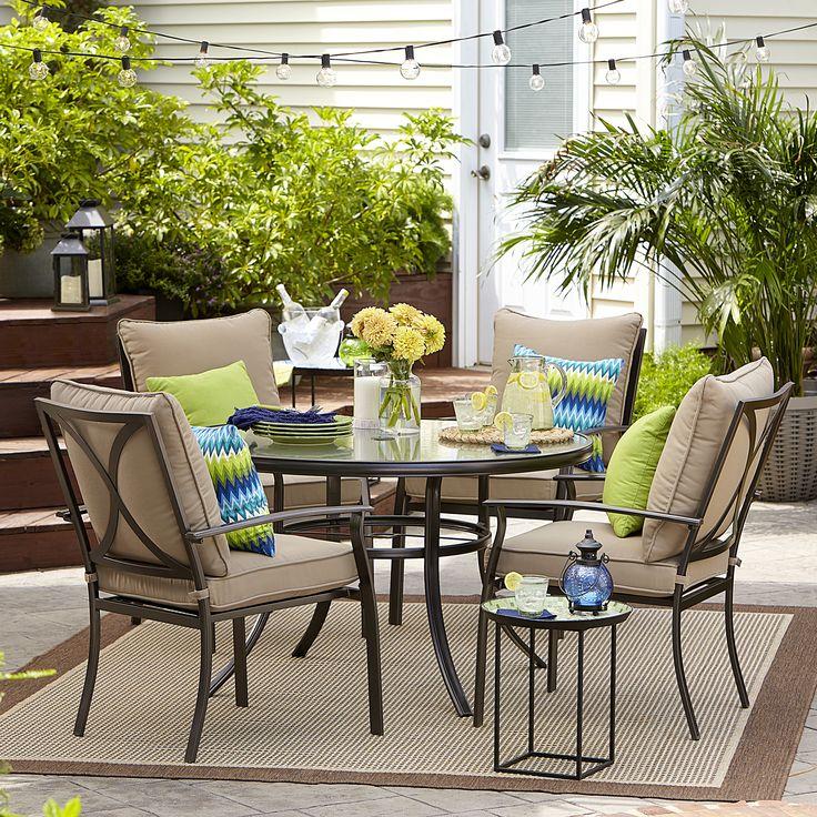 Elegant Garden Oasis 5 Piece Bar Set