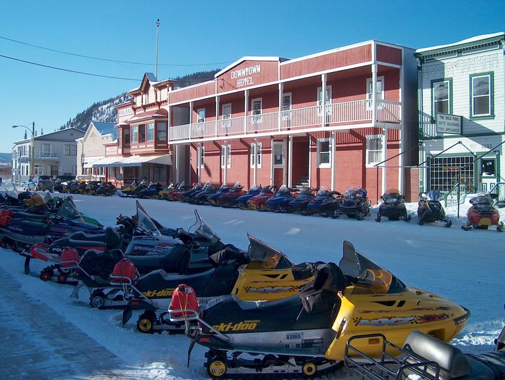 Trek Over the Top...annual snowmobile race from Tok, Alaska to Dawson City, Yukon