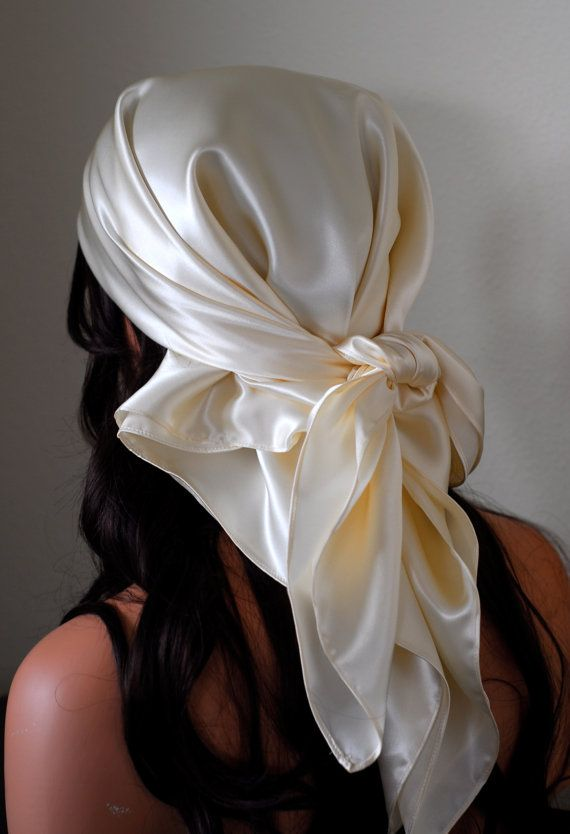 PURE MULBERRY Silk Hair and Sleep Scarf, by AdorabellaBaby on Etsy, $38.00