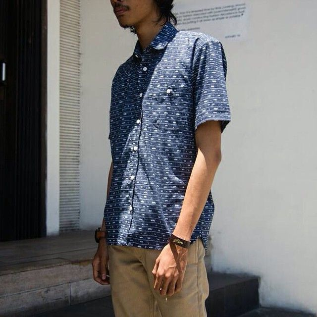Our staff @rizkiptm is wearing S/S Blue Washed Cell Shirt from @misterjiro pants from @thequtn and looks perfect with the leather bracelet from @affairsyk  Come and visit us to find out more about the product at our store.  Or contact us to order: AFFAIRS CARE whatsapp 0888-06-111-027 // Line affairsstore, and BBM: 323D20AD  #AffairsStore #NewArrival #ProductUpdate #HowtoWear