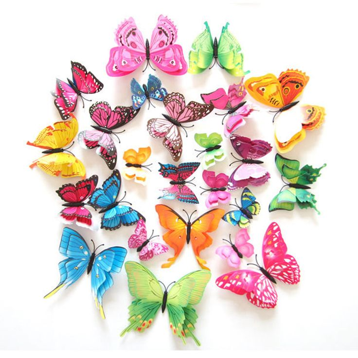 BUY now 4 XMAS n NY. 12Pcs 3D Double layer Butterfly Wall Sticker on the wall for Home Decor DIY Butterflies Fridge Magnet stickers Room Decoration  -- Shop 4 Xmas n 2018. Offer can be found on  AliExpress.com. Just click the image.