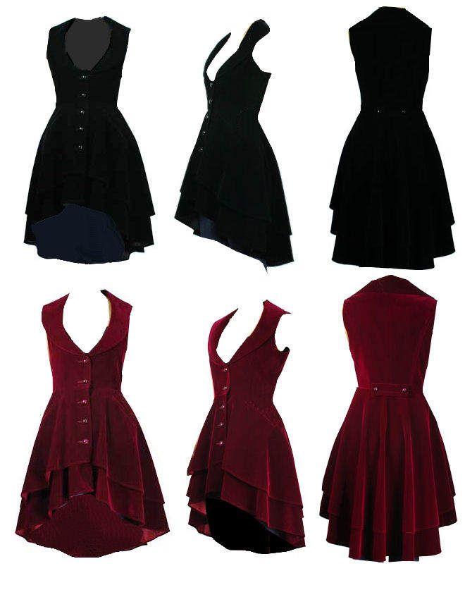 Velvet victorian coat - On top of a transparent circle skirt.