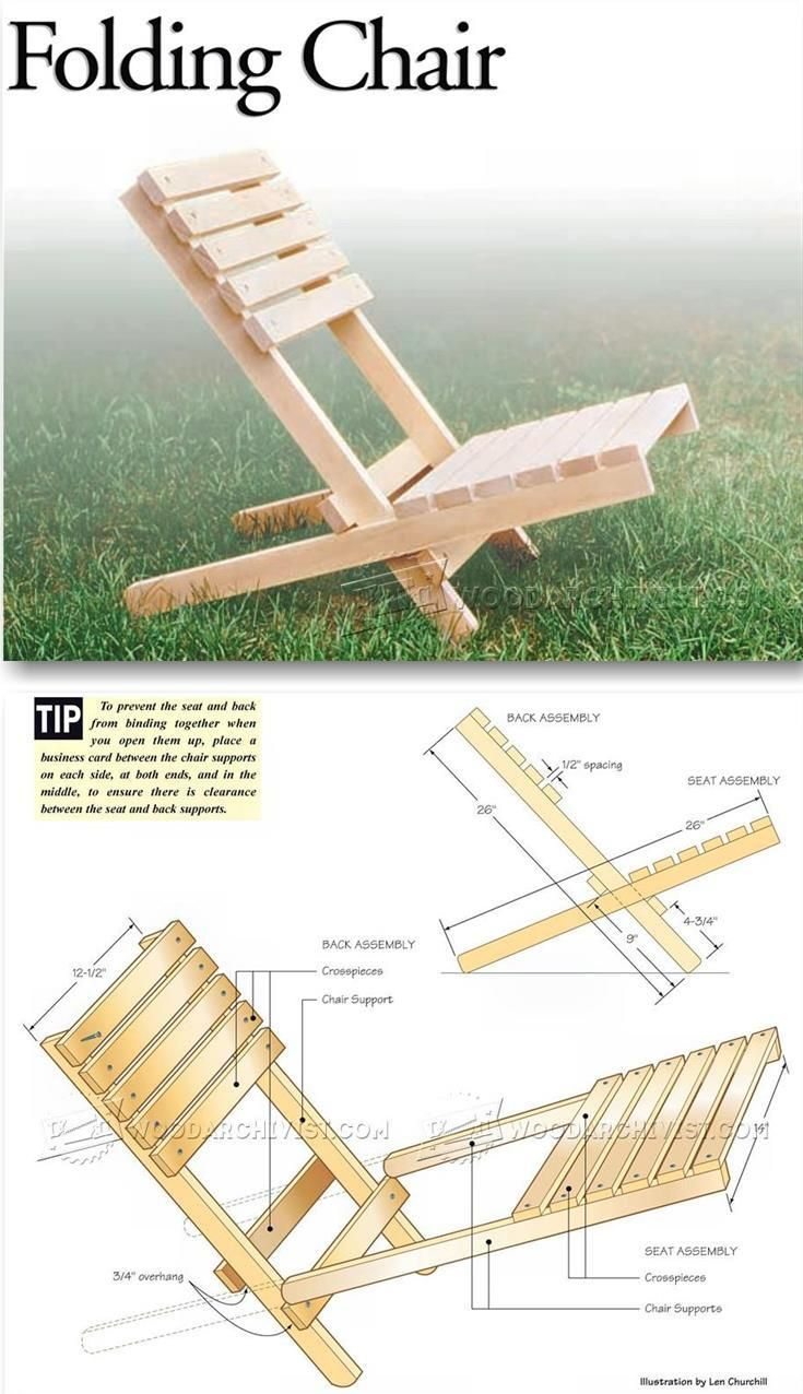 Folding Chair Plans   Outdoor Furniture Plans U0026 Projects | WoodArchivist.com