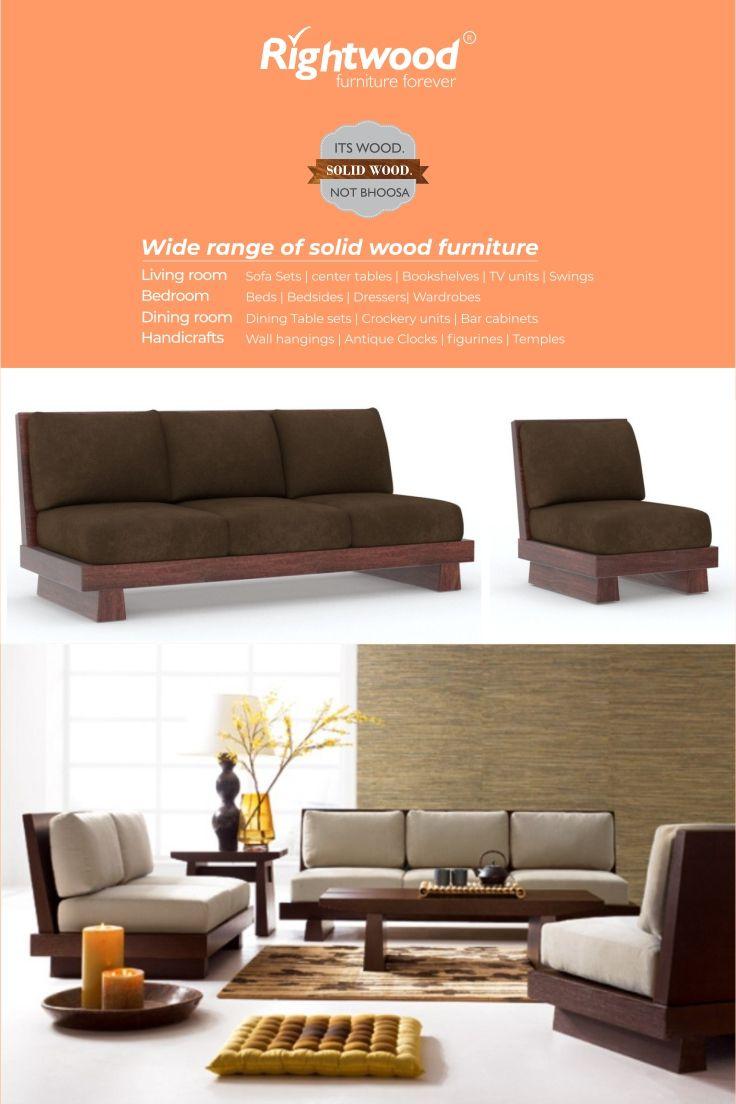 Low Seating Sofa 3 2 1 Set Walnut Wooden Sofas Sofas Living