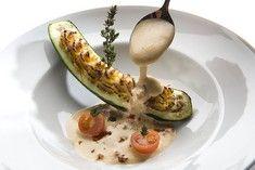 Picandou-Ziegenkäse in der Zucchini gegrillt mit Tomatensabayone | For me online…