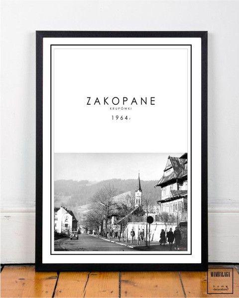 plakat 50x70 cm ZAKOPANE I - MAMBALAGA - Ramki na zdjęcia