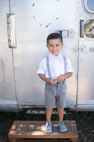 Cute Page Boy | Kaysha Weiner Photographer | Bridal Musings Wedding Blog 41 | Ring Bearer | Pink Tie | Suspenders