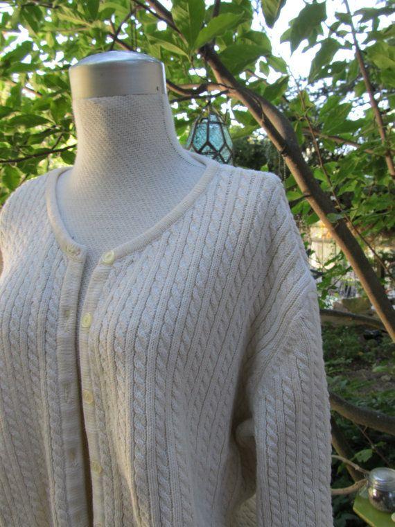 Cream 80s Cable Sweater