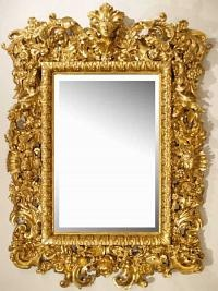 Baroque Accessories like this mirror had a lot of detail and look very different compared to rococo.