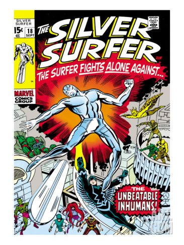 marvel silver age comic book covers | Marvel Comics Retro: Silver Surfer Comic Book Cover No.18, Against the ...