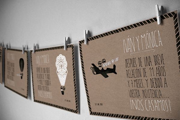 Wedding invitations / Cards by Marta Sevilla, via Behance