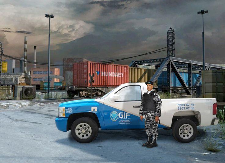 Camioneta silverado, servicio de custodia en permanencia
