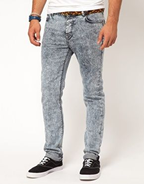 ASOS Skinny Jean With Mid Acid Wash