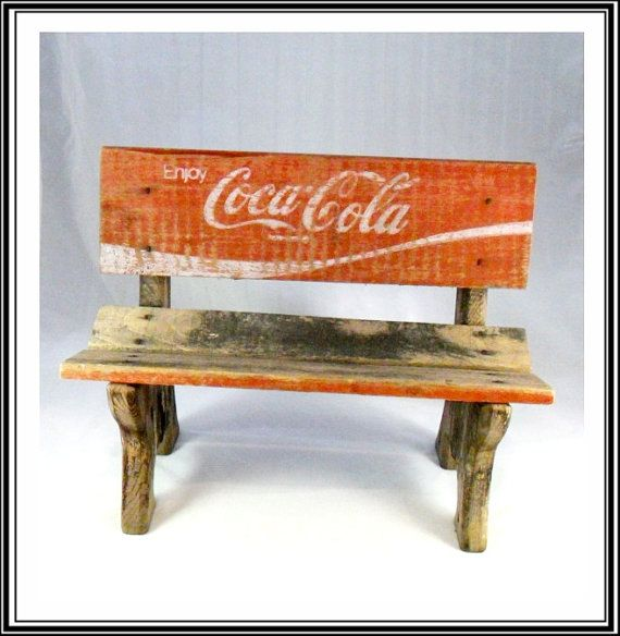 Vintage Coca Cola Crate Wooden Doll Bench by grannysgarage on Etsy