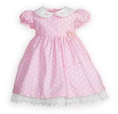 Polka Dots and Rosettes Newborn/Infant Girls' High-Waist Dress