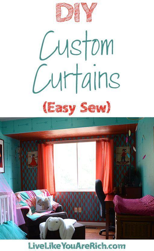 DIY Custom Curtains Easy Sew