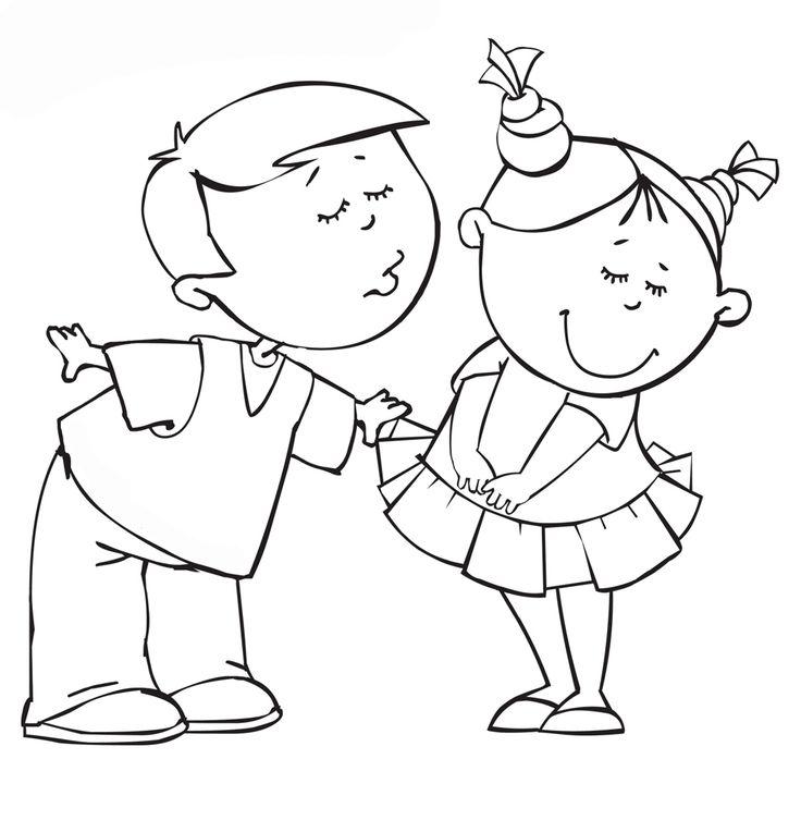 Мальчик и девочка черно белые картинки