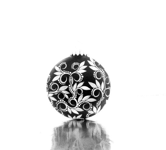 17 best images about hand painted baubles on pinterest for White christmas baubles