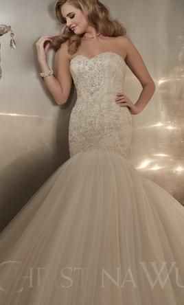 Christina Wu 15575: buy this dress for a fraction of the salon price on PreOwnedWeddingDresses.com