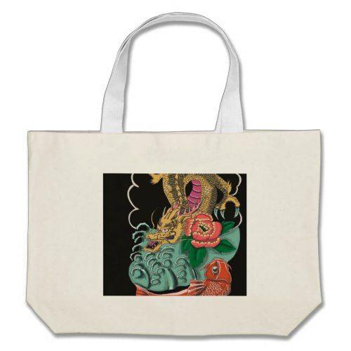 Yakuza Tattoo Large Tote Bag
