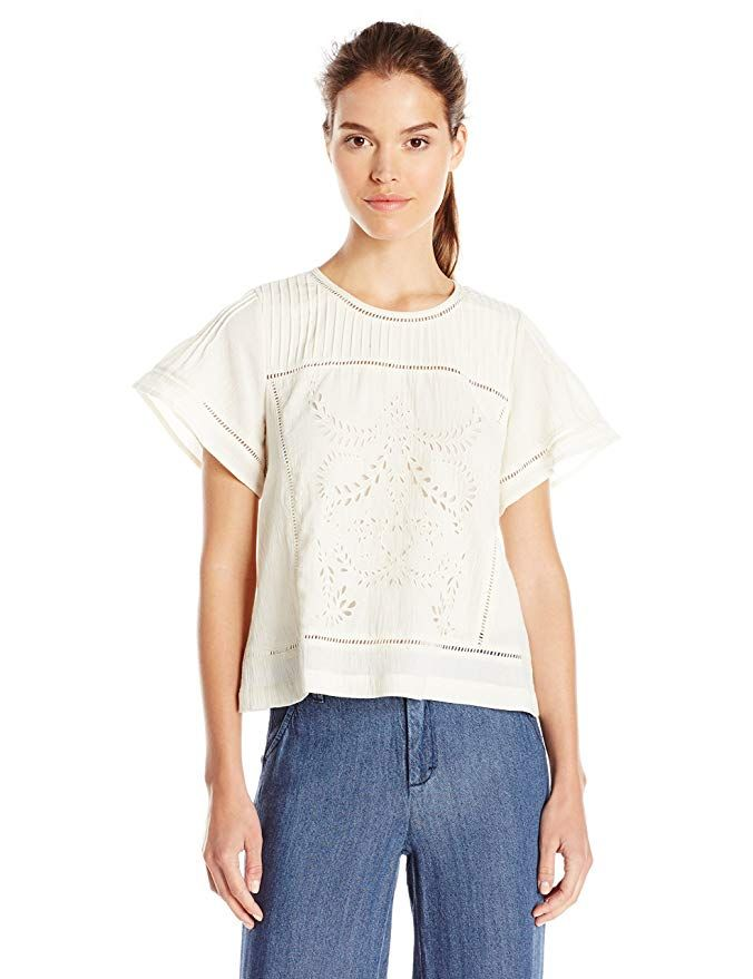 04aa0462dcf MOON RIVER Women's Embroidery Pleated Top >>> For more information, visit  image link. This link participates in Amazon Service LLC Associates  Program, ...