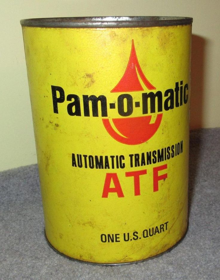Vintage Pam Oil Co. Automatic Transmission Fluid paper can ATF Sioux Falls SD #PamOilCo