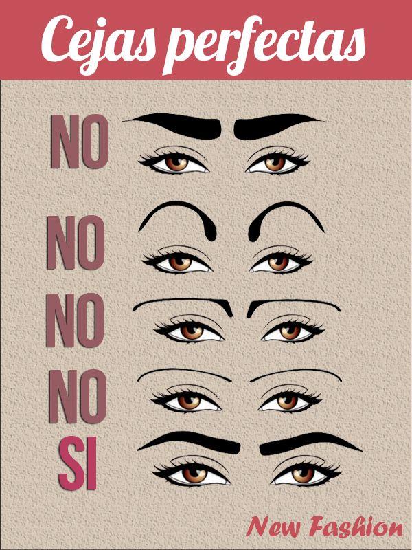 Cómo NO depilar tus cejas Anoten chicas Maquillaje Pinterest - tipos de cejas
