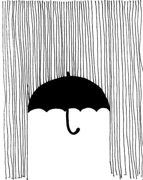 a drawing idea.rain umbrella